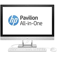 HP Pavilion 27-r056ng 68,6 cm (27 Zoll 4K-IPS) All-in-One Desktop PC (Intel Core i7-7700T, 16GB RAM, 1TB SSD, AMD Radeon 530 Grafik, Windows 10 Home 64) weiß