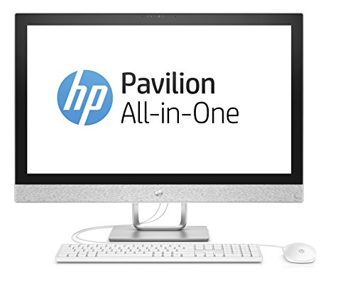 HP Pavilion 27-r056ng 68,6 cm (27 Zoll 4K-IPS) All-in-One Desktop PC (Intel Core i7-7700T, 16GB RAM, 1TB SSD, AMD Radeon 530 Grafik, Windows 10 Home 64) weiß (All In One Computer Intel I7)