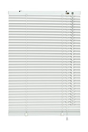 GARDINIA Alu-Jalousie, Sicht-, Licht- und Blendschutz, Wand- und Deckenmontage, Alle Montage-Teile inklusive, Aluminium-Jalousie, Weiß, 100 x 130 cm (BxH)