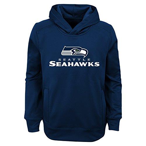 Outerstuff NFL Seattle Seahawks Jungen Youth Ziel Line Ständer Performance Fleece Hoodie, Jungen, 9K1B7FA5JAX9 SEA B41-BXL20, Navy, XL