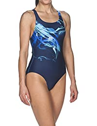 Arena Mujer Sport Pegasus–Bañador, mujer, Damen Sport Badeanzug Pegasus, Navy-Pix Blue, 38