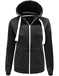 NEW WOMENS LADIES PLAIN HOODIE HOODED ZIP TOP ZIPPER SWEATSHIRT JACKET COAT ALL SIZE AND COLOUR ARE AVAILABLE IN LISTING