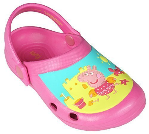 Get Wivvit Girls Official Peppa Pig Beach Clogs Sandals Mules UK Toddler Shoe Sizes From 4 To 10