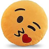 وسادة إيموجي إيموجي إيموشن صفراء دائرية - لوف كيس