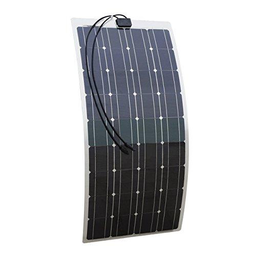 ECO-WORTHY 100w 12v Semi Flex Solarmodul - Monokristallin - 100 Watt Solarpanel Photovoltaik
