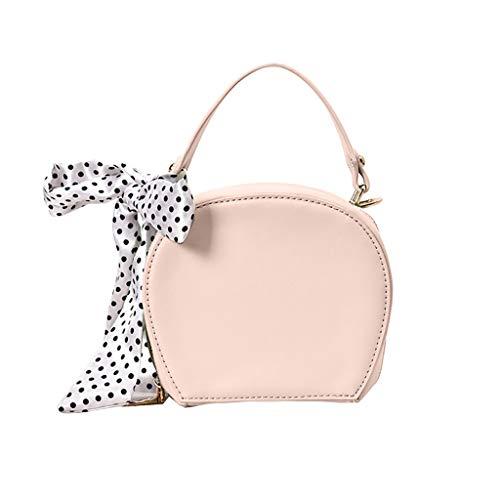 XZDCDJ Crossbody Tasche Damen Beiläufige Handtasche UmhängeTaschen Frauen New Wild Silk Schal Handtasche Messenger Umhängetasch Rosa -