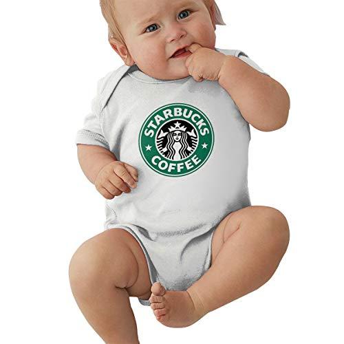 Jungen Sommer Bodys T-Shirt Starbucks Logo T Shirt Shirts Für Kleinkind Mädchen Jungen Kurzhülse Weiß 6 Mt ()