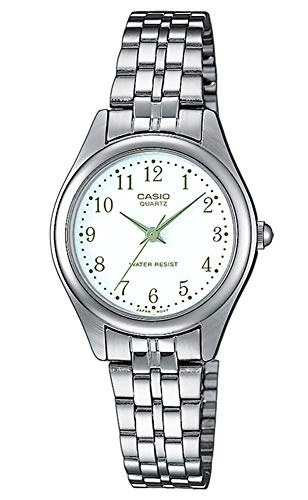 Casio Damen Analog Quarz mit Edelstahl Armbanduhr LTP 1129PA 7B