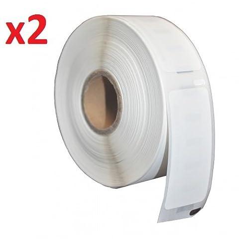 2 x Seiko SLP-2RLE Address Label Rolls for Seiko SLP Pro, Smart Label Printer 100, 120, 200, 220, 240, 410, 420, 430, 440, 450