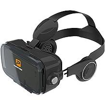 VR Brille, Pasonomi VR Virtual Reality Brille Headset mit Kopfhörer für 4.0 - 6.2 Zoll Handy Smartphones