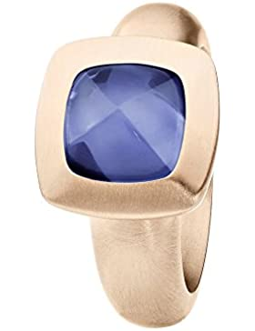 XEN Ring mit blauen Hydrothermal Quarz - rosè vergoldet