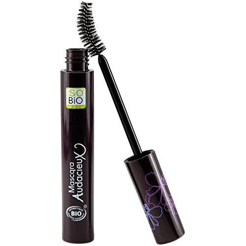 SO 'BIO ETIC - Mascara EcoBio Audacieux 3 en 1 01 Noir Chic - Avec huile de ricin renforçant - Effet Faux cils - Applicateur spécial - Certifié biologique et Ecocert - 10 ml