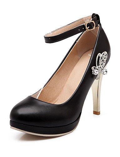 WSS 2016 Chaussures Femme-Bureau & Travail / Décontracté-Noir / Rose / Blanc-Talon Aiguille-Talons / Bout Arrondi-Talons-Polyuréthane white-us6.5-7 / eu37 / uk4.5-5 / cn37