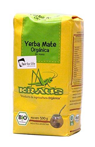 Mate Tee Argentinien, 500g. - Yerba Mate Organica KRAUS 500g -