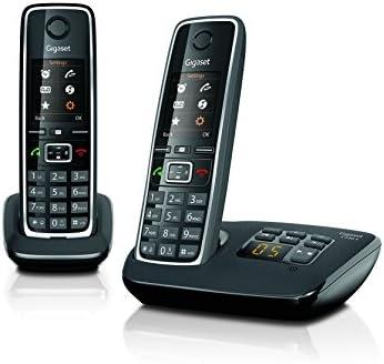 Gigaset C530A - Teléfono fijo digital (inalámbrico), negro (importado)