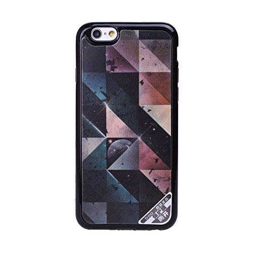 iPhone 5S Case,[Unique Pattern][Flexible and NO Deformation][Acrylic Material][Cellphone Camera Protection]Smooth Back Case--Black Beach Diamond Lattice