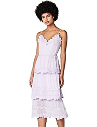 TRUTH & FABLE Layered Midi, Robe de Soirée Femme, (Lilac), 34 (Taille Fabricant: XX-Small)