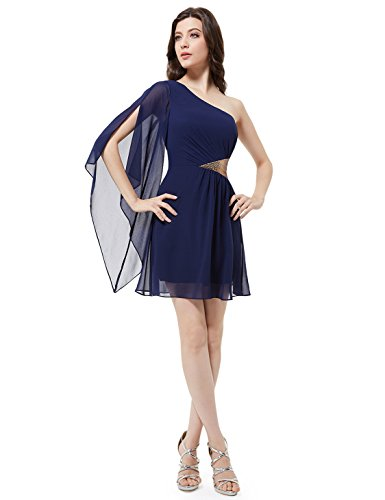 Ever-Pretty Damen Strandkleid Marineblau