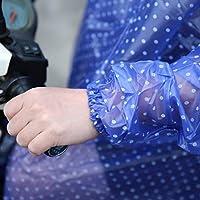 Jasnyfall Waterproof Big Hat Crystal Printing Dot Clear Motocicleta Persona Poncho Adulto Impermeable con Capucha Outdoor Rain Coat-Color: Azul