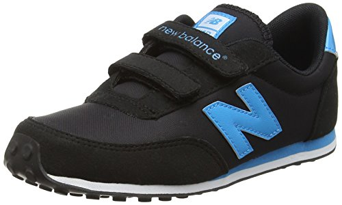 New Balance 410 Hook and Loop, Baskets Basses Mixte Enfant Multicolore (Black/Teal)