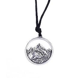 Senderismo Montaña Paisaje hueca collar con colgante joyería regalo para viajeros de al aire libre amantes