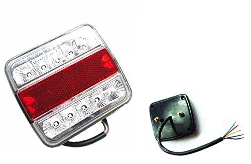 Luz LED de freno para remolque, caravana o camión (12V, 2 unidades, 5 funciones).