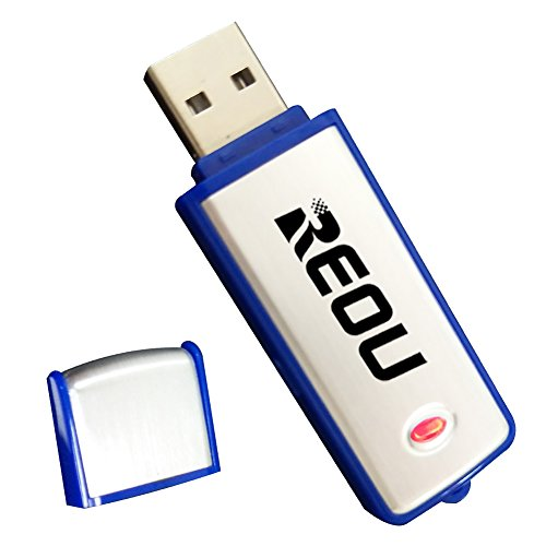 reou Digital Voice Recorder und USB Flash Drive (us-u1) 4GB Silber-Blau