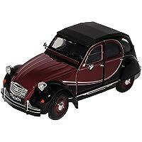 Welly Citroen 2cv Braun Rot Schwarz Charleston 6 Ente 1949-1990 1/24 Modell Auto mit oder ohne individiuellem Wunschkennzeichen