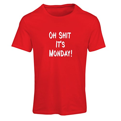 N4068F T-shirt female Oh shit its Monday gift Rosso Bianco