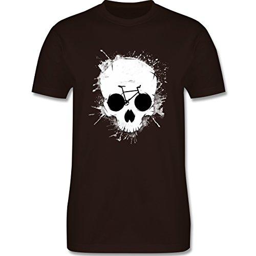 Radsport - Ride or die - Totenkopf Fahrrad - Herren Premium T-Shirt Braun