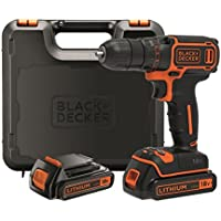Black + Decker BDCDC18KB-QW Perceuse sans fil 18 V avec 2 batteries chargeur 3 h
