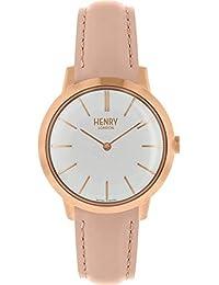 Henry London HL34-S0222 - Reloj analógico de Cuarzo para Mujer con Correa de Piel