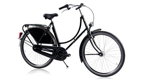 41o5AjShR3L - HOLLANDER, classic Dutch bike, black, single-speed, frame size 56cm