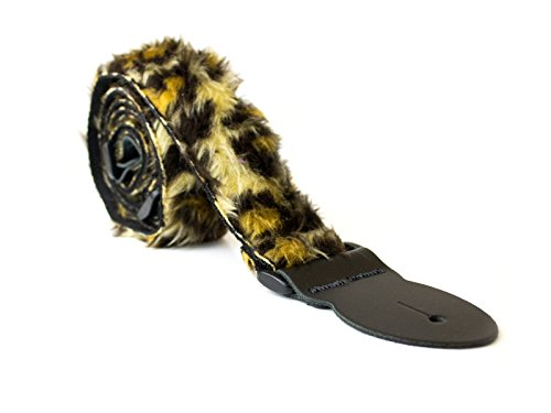 soft-fur-design-adjustable-acoustic-electric-guitar-strap-leopard-fur
