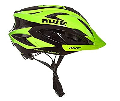 AWE® AWEAir™ FREE 5 YEAR CRASH REPLACEMENT* In Mould Adult Mens Cycling Helmet 58-61cm Green, Black from AWE®