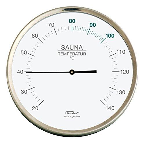 Sauna-Thermometer - Chromstahlgehäuse