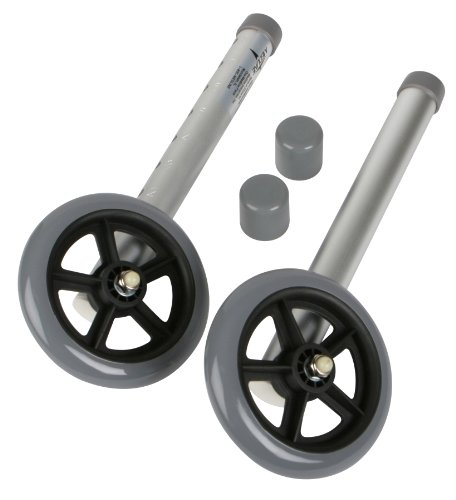 Medline 5' Walker Wheels for 2 Button Walker