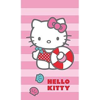 CTI 042340 Badetuch Hello Kitty Deauville, Baumwolle Velours, 70 x 120 cm