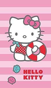 Cti 042340  Hello Kitty Deauville Drap de Plage 70 x 120 cm