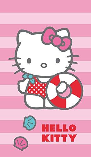 CTI 042340 Badetuch Hello Kitty Deauville, Baumwolle Velours, 70 x 120 cm (Hello Kitty)
