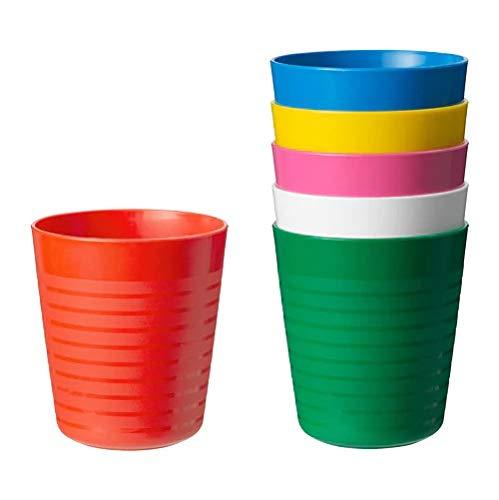 Ikea KALAS Beker, Diverse kleuren x6, Kunststoff, Multi, 18 x 8 x 8 cm, 6-Einheiten