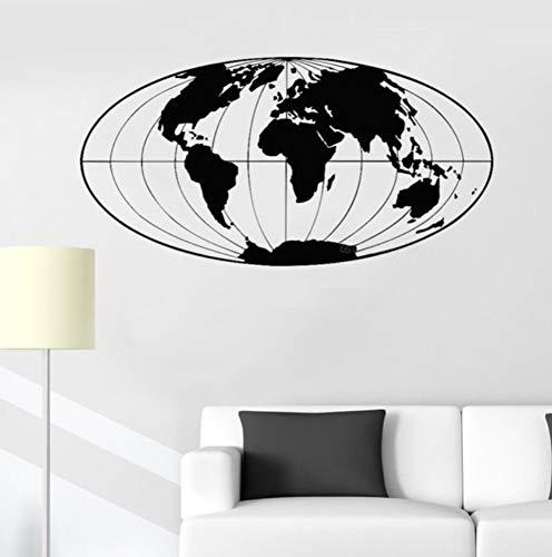 Qbbes Mapa Del Mundo Etiqueta De La Pared Decoración De La Oficina Planeta Tierra Globo Geográfico Mapa Del Mundo Etiqueta De La Pared Decoración Del Hogar Calcomanías De Sala De Estar 35X70 Cm