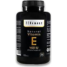 Vitamina E Natural 400 UI (D-Alfa-Tocoferol) | 200 perlas: