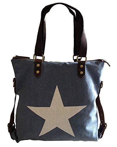 Fashion, Borsa a tracolla donna multicolore multicolore ca. 35 x 15 x 40 cm (LxBxH) blu jeans