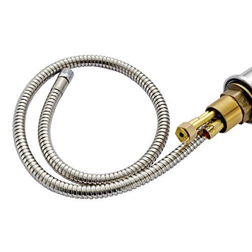 Auralum® 2 Jahre Garantie Mischbatterie Herausziehbar Küchearmatur Armatur Wasserhahn für Waschbecken Küche Spüle -