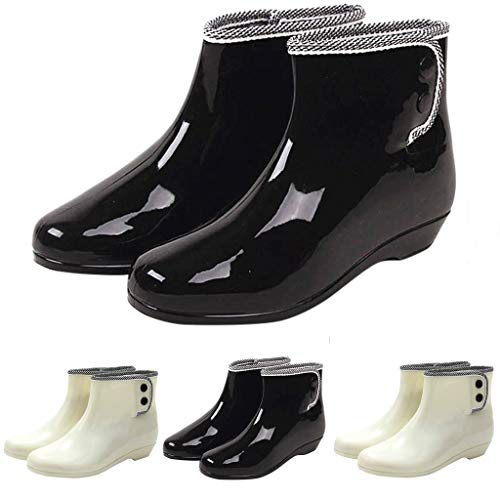 Dorical PVC Jelly Waterproof Short Rain Boots Anti-Slip Rain Boots Women Ladies Girls Shoes