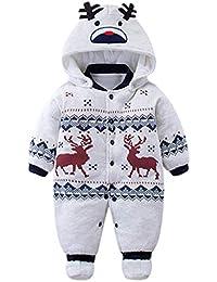 Bebé muchachos de las niñas mameluco Recién nacido espesar Traje para la  nieve Otoño invierno Infantil 3c09f18976b