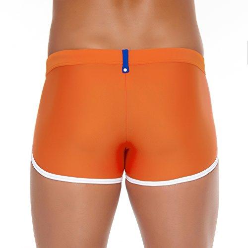 Shorty de bain Push-up homme Karim Orange