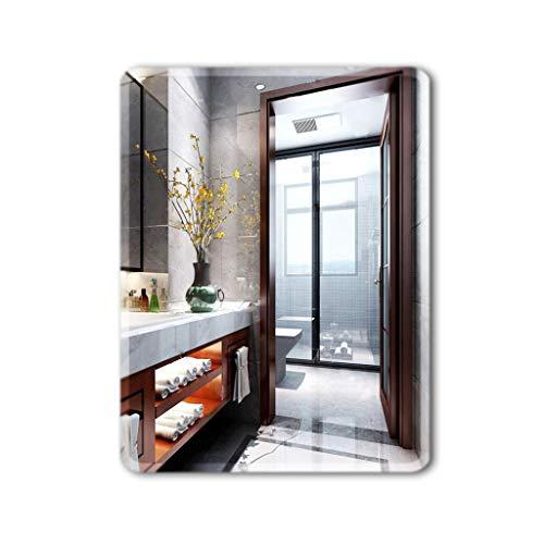 Miroirs Pâte Simple Salle De Bains sans Cadre Salle De Bains Salle De Bains Mural (Color : Silver, Size : 70 * 90 * 3cm)