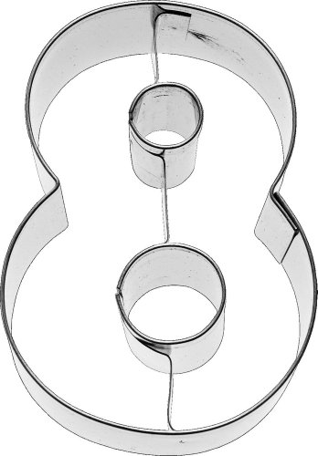 Birkmann Ausstechform Zahl 8, 6 cm, Edelstahl